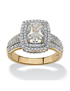 1.53 TCW Cubic Zirconia Ring by PalmBeach Jewelry