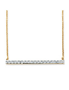 .54 TCW Cubic Zirconia Bar Necklace by PalmBeach Jewelry