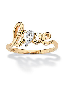 Diamond Accent Love Ring by PalmBeach Jewelry