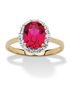2.52 Ruby Cubic Zirconia Ring by PalmBeach Jewelry