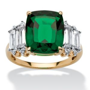 5.36 TCW Emerald Cubic Zirconia Ring