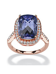 Purple Velvet Crystal Ring by PalmBeach Jewelry