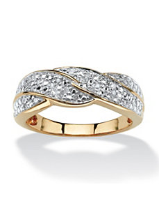 1/10 TCW Diamond Braid Ring by PalmBeach Jewelry