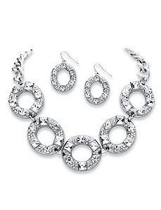 Crystal Circle Jewelry Set by PalmBeach Jewelry