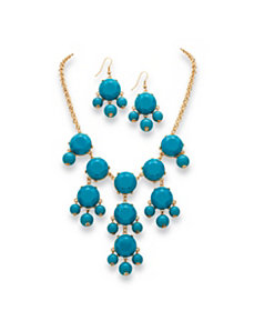 Aqua Bubble Jewelry Set by PalmBeach Jewelry