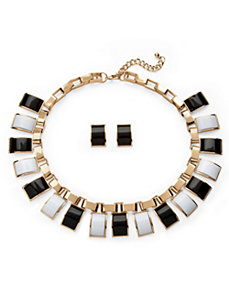 Black and White Jewelry Set by PalmBeach Jewelry