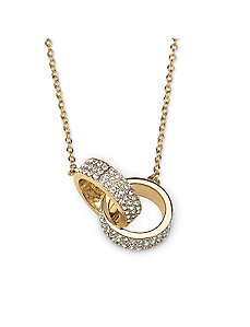 Pave Crystal Love Link Necklace by PalmBeach Jewelry