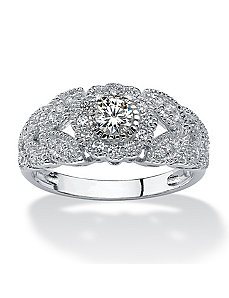 .53 TCW Cubic Zirconia Ring by PalmBeach Jewelry