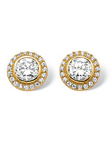 2.14 TCW Cubic Zirconia Earrings by PalmBeach Jewelry
