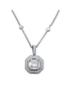 5.45 TCW Cubic Zirconia Necklace by PalmBeach Jewelry