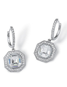 5.10 TCW Cubic Zirconia Earrings by PalmBeach Jewelry