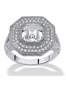 3.15 TCW Cubic Zirconia Ring by PalmBeach Jewelry