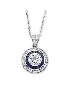 3.26 TCW Cubic Zirconia Necklace by PalmBeach Jewelry