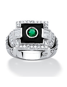 .65 TCW Emerald Cubic Zirconia Ring by PalmBeach Jewelry