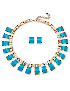Teal Jewelry Set by PalmBeach Jewelry