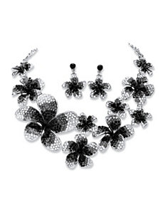 Crystal Flower Jewelry Set by PalmBeach Jewelry
