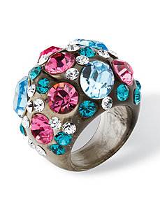 Swarovski Crystal Lucite Ring by PalmBeach Jewelry