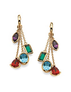 Crystal Drop Earrings by PalmBeach Jewelry