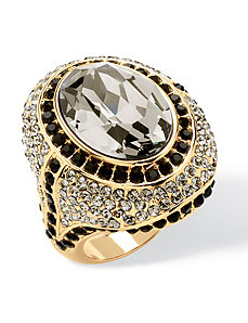 Grey Crystal Cocktail Ring by PalmBeach Jewelry