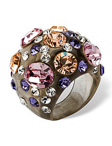 Crystal Lucite Ring by PalmBeach Jewelry