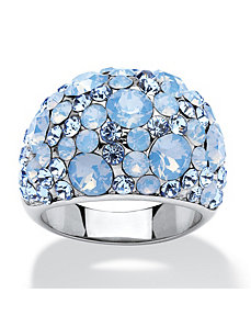 Blue Opal Crystal Ring by PalmBeach Jewelry