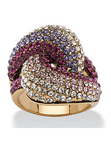Purple Knot Cocktail Ring by PalmBeach Jewelry