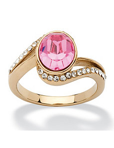 Rose Crystal Ring by PalmBeach Jewelry
