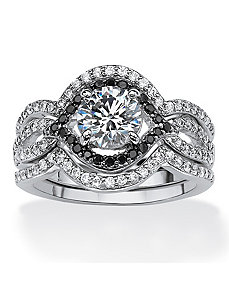 2.28 TCW Cubic Zirconia Ring Set by PalmBeach Jewelry