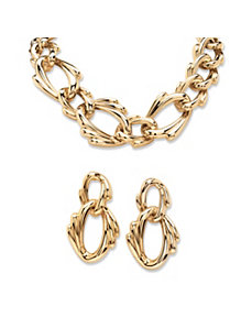 Curb Link Jewelry Set by PalmBeach Jewelry