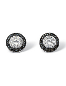 2.05 TCW Cubic Zirconia Stud Earrings by PalmBeach Jewelry