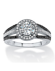 1.55 TCW Cubic Zirconia Ring by PalmBeach Jewelry