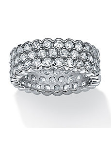 4.50 TCW Cubic Zirconia Ring by PalmBeach Jewelry