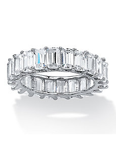 6.44 TCW Cubic Zirconia Ring by PalmBeach Jewelry