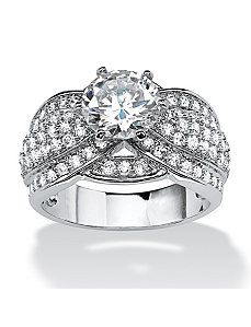 3.12 TCW Cubic Zirconia Ring by PalmBeach Jewelry