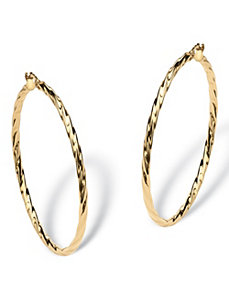 Twisted Hoop Earrings by PalmBeach Jewelry