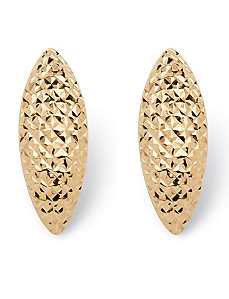 Diamond-cut Husk Earrings by PalmBeach Jewelry