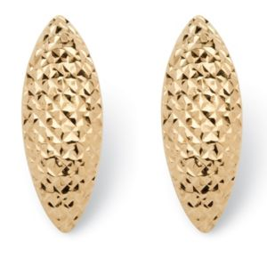 Diamond-cut Husk Earrings