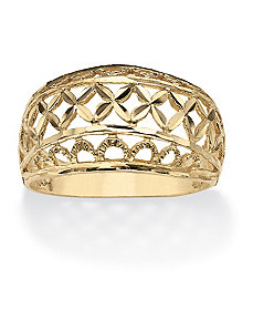 Diamond-Cut Dome Cutout Ring by PalmBeach Jewelry