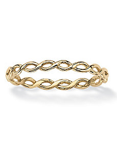 Twist Braid Ring by PalmBeach Jewelry