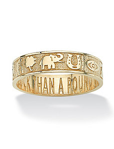 Lucky Symbols Ring by PalmBeach Jewelry