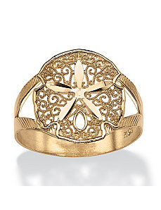 Sand Dollar Double Shank Ring by PalmBeach Jewelry