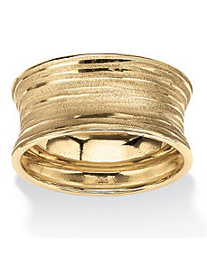 Concave Banded Ring by PalmBeach Jewelry