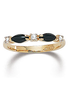 Onyx Crystal Ring by PalmBeach Jewelry