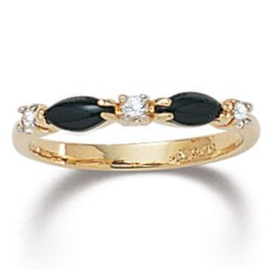 Onyx Crystal Ring