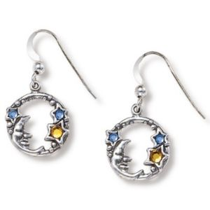 Silver Moon/Stars Earrings