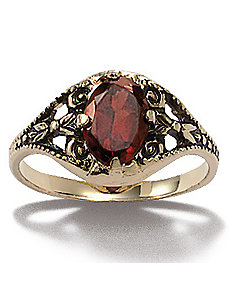 Garnet Ring by PalmBeach Jewelry