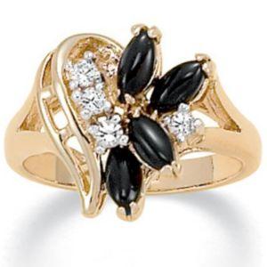 Onyx/Crystal Ring
