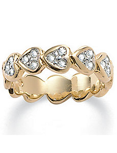 Sim. Diamond Heart Ring by PalmBeach Jewelry