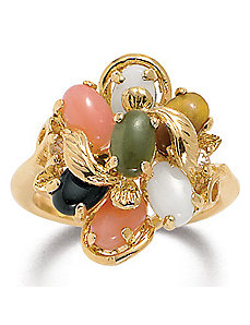 Multi-Stone 14k gold-plated Ring by PalmBeach Jewelry