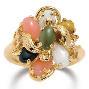 Multi-Stone 14k gold-plated Ring